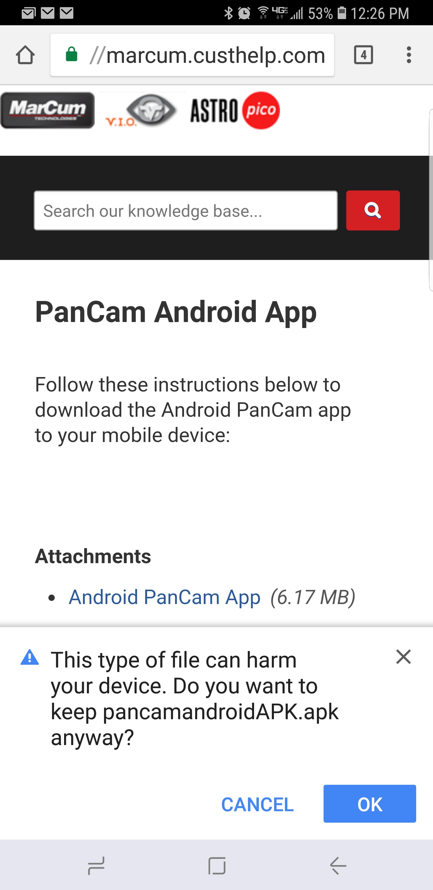 PanCam Android App